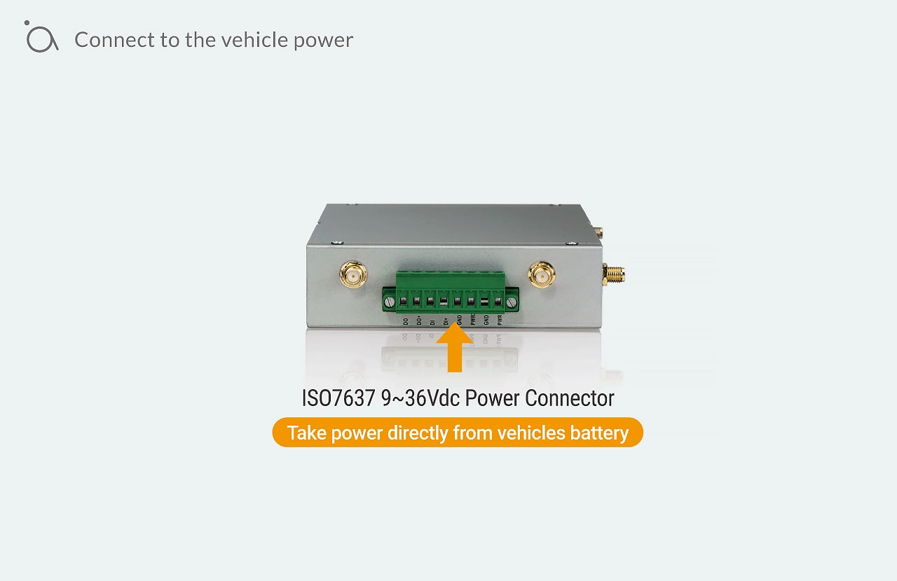 Connect to the vehicle power