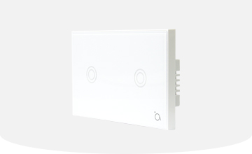 SA-105 Dual Touch Dual Relay Wall Switch Z-wave Plus