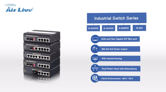 AirLive Industrial Switch series(all-in-one)