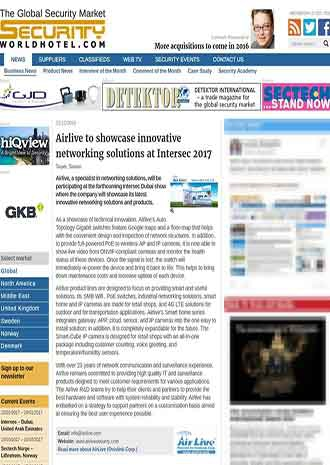 2017 intersec AirLive news on securityworldhotel.com