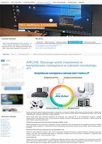 Poland Media Exposure about AirLive Wireless Surveillance Solutions on blogotech.pl
