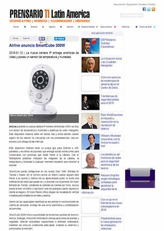 AirLive Smartcube was Introduced on prensariotila.com in Latin America