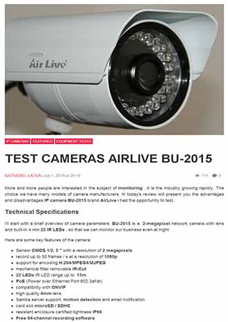 AirLive BU-2015 Won ''Super Quality, Super Product, Editor's Choice'' three awards from newspc.pl