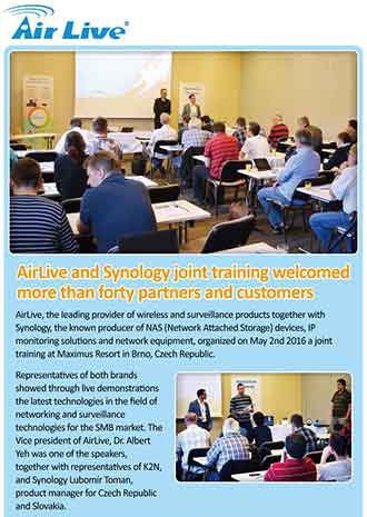 AirLive and Synology joint training welcomed more than forty partners and customers