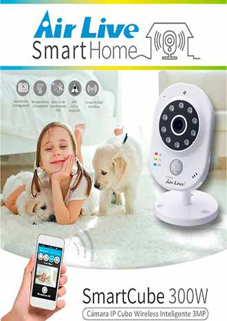 AirLive Smart Home SmartCube 300W Cámara IP Wireless Inteligente Cubo 3MP