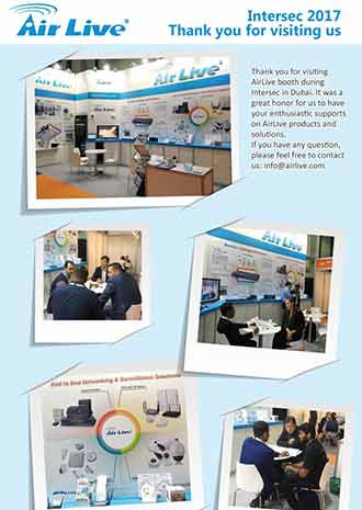 AirLive at Intersec 2017