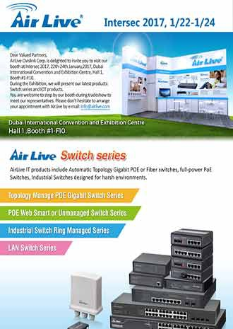 AirLive Switches introduced at Intersec 2017