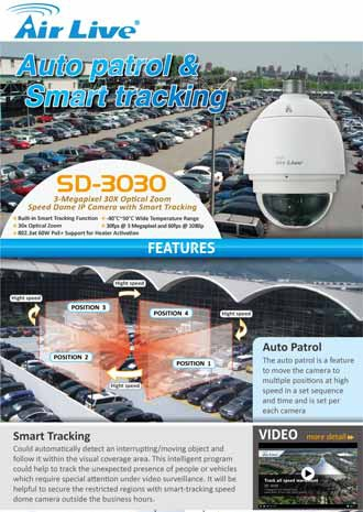 AirLive Auto patrol and Smart tracking speed dome SD-3030