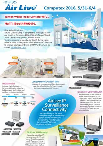 AirLive IP Survellance Connectivity