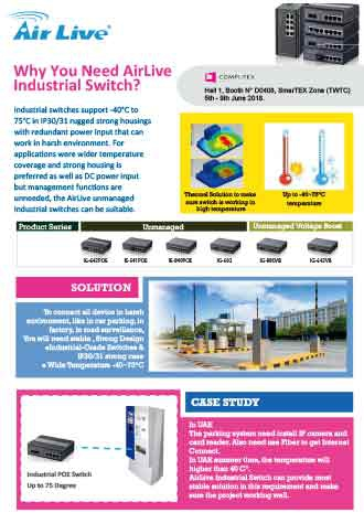Why you need AirLive Industrial unmanaged Switch?