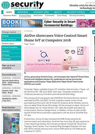AirLive showcases Voice Control Smart Home IoT at Computex 2018