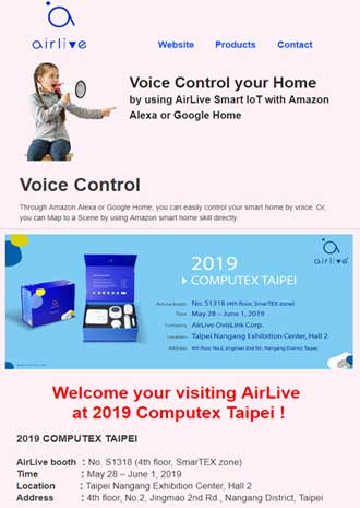 Computex Taipei 2019 Airlive - Voice Control your Home