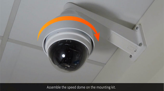 SD-3030 Speed Dome Camera Hardware Installations
