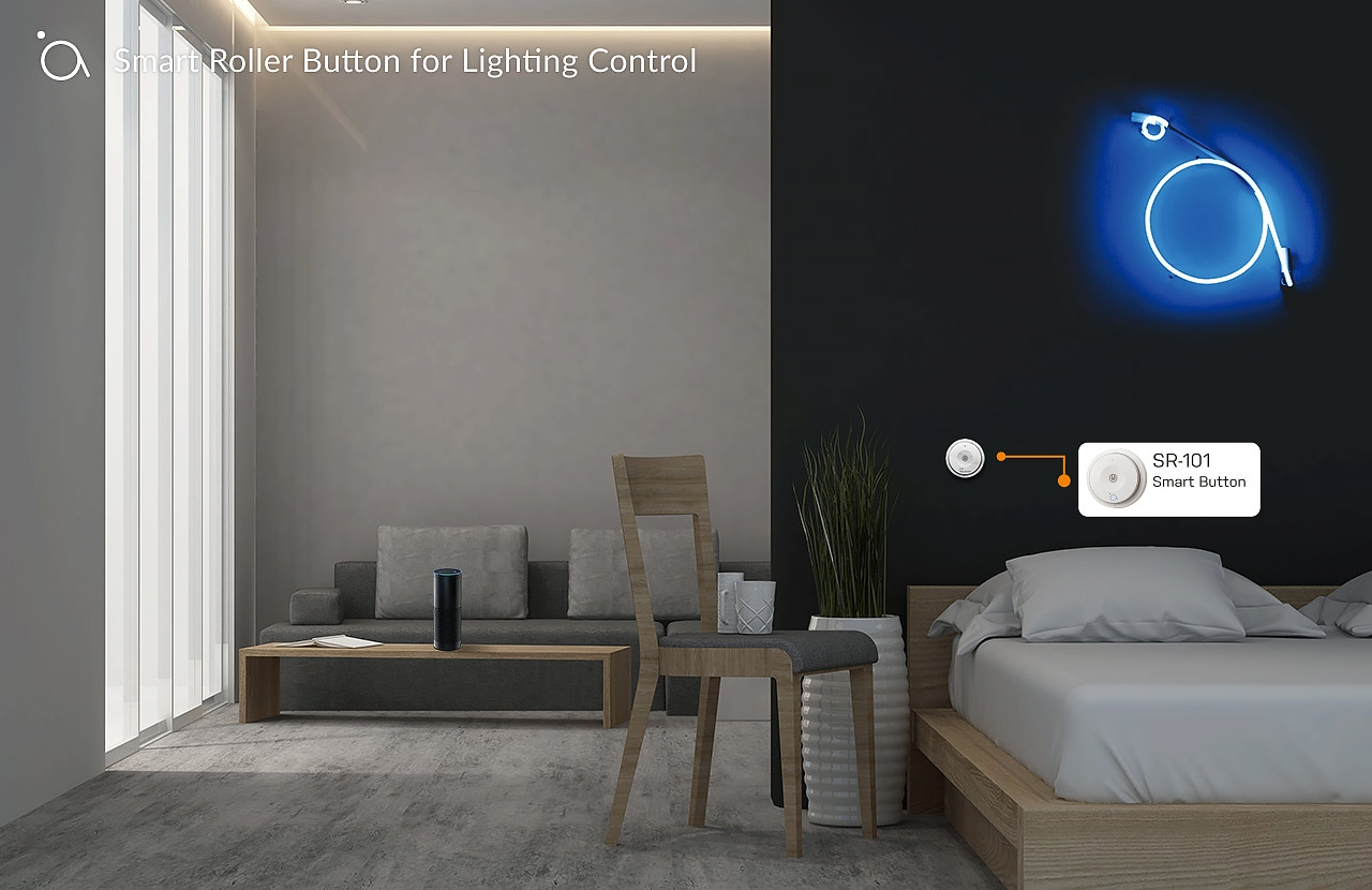Smart Roller Button for Lighting Control